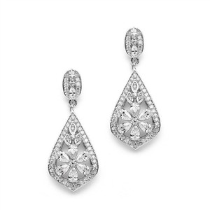 Art Deco Glam Bridal Earrings