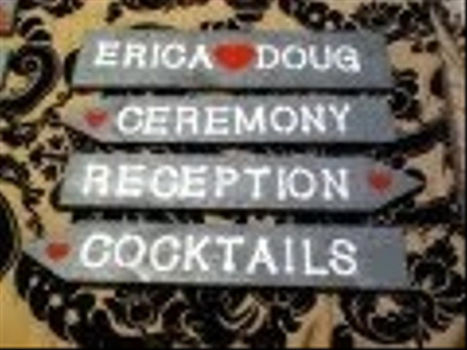 Wooden Painted Wedding Signs (ceremony Reception