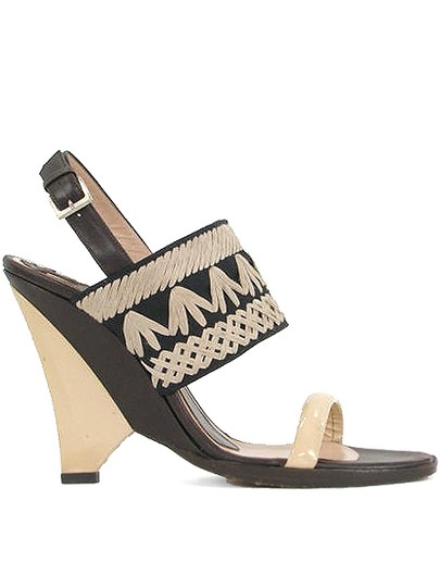 Pollini Brown, Beige Wedges