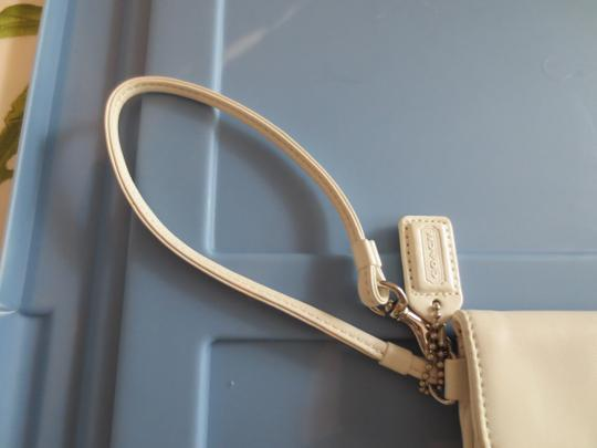 Coach Leather white Clutch