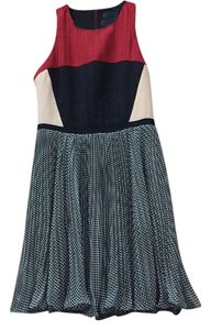 Anthropologie short dress Black, white, red and pink on Tradesy