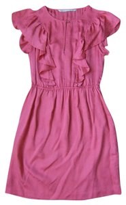 Twelfth St. by Cynthia Vincent Silk Fitted Ruffle Dress