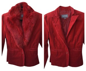 Wilsons Leather Convertible Fur Red Blazer