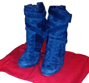 Christian Louboutin Navy suede Boots