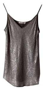 Elaine Kim Silk Sequin Top Silver
