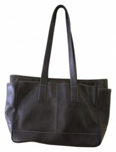 Coach Large Leather Tote in Black