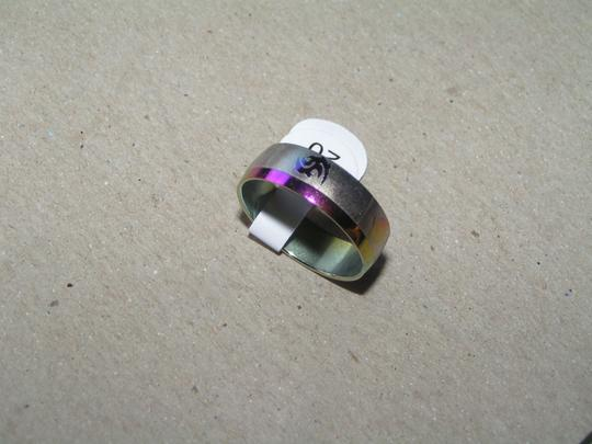 Other BOGO Multi Colored Etched Stainless Steel Wide Band Ring Free Shipping
