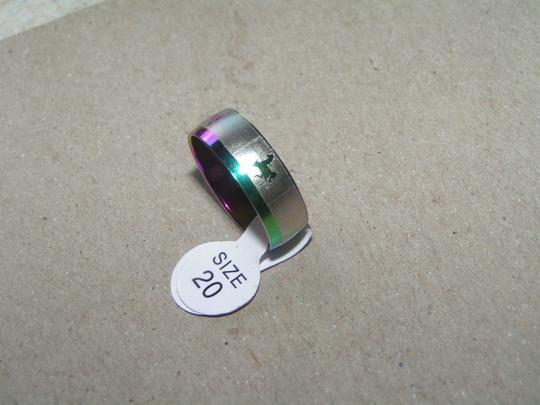 Other BOGO Horse Etched Colorful Stainless Steel Band Ring Free Shipping
