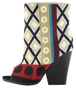 Burberry Prorsum Tapestry Boho Ankle Multicolor Boots