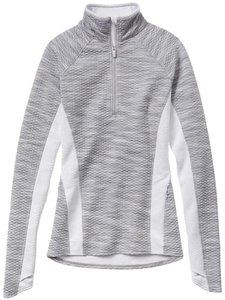 Athleta Athleta Snowscape Half Zip Top, White Spacedye, Size XXS