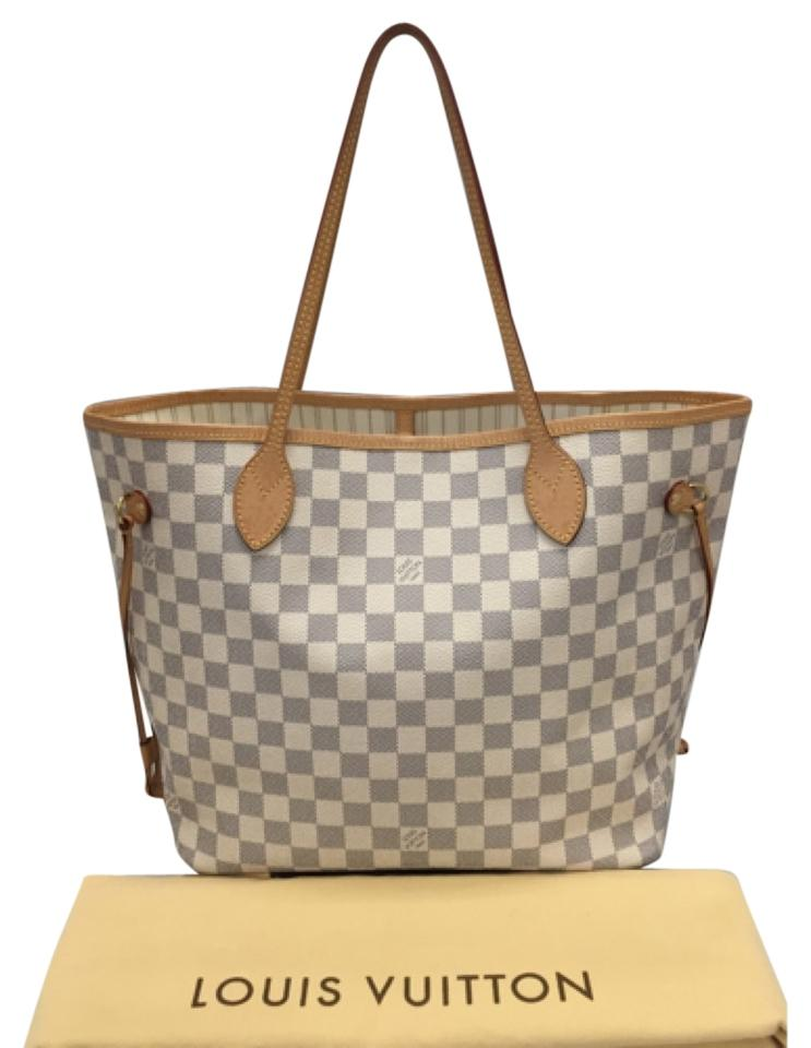 louis vuitton neverfull mm damier azur comes with dustbag made in france 2015 tote bag. Black Bedroom Furniture Sets. Home Design Ideas