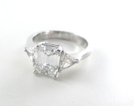 Gold 18kt Solid White Solitaire Band 7 Engagement 3 Diamond Ring