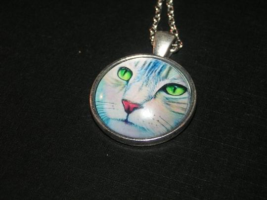 Other BOGO Cabochon Cat Face Pendant Necklace Free Shipping