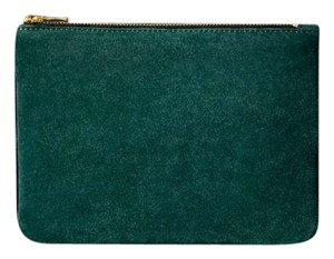 Balmain x H&M Suede Leather Green Clutch