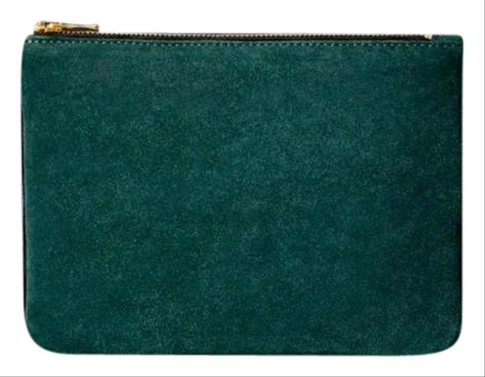 0177fe19ef33 Preferred Balmain x H M Small And Green Leather Suede Clutch - Tradesy BL25