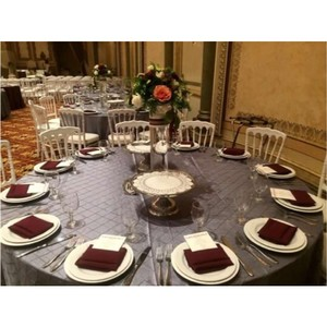 21 Charcoal Pintuck Tablecloths