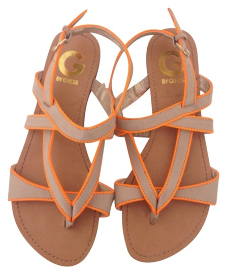 Preload https://img-static.tradesy.com/item/8951125/guess-beige-neon-orange-leather-sandals-size-us-6-regular-m-b-0-1-540-540.jpg