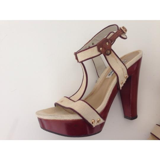 Steve Madden Heels Wood Heel Linen Leather Leather Heel Wooden Heel Summer Winter Summer Heel Platforms