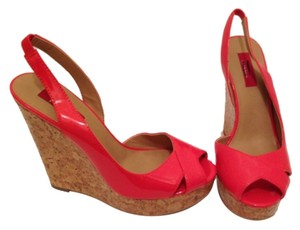 Saks Fifth Avenue Pink Wedges
