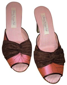 Olivia Rose Tal Brown and Pink Sandals