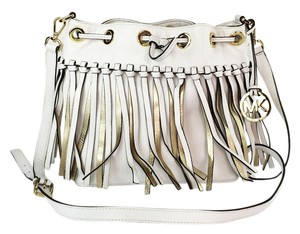 MICHAEL Michael Kors Christy Vanilla Fringe Messenger Cross Body Bag
