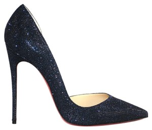 Christian Louboutin Navy Glitter Pumps