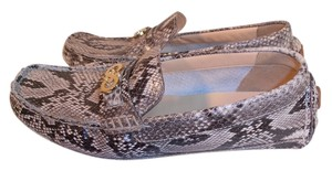 Cole Haan Designer New Gray-snake skin patent leather Flats