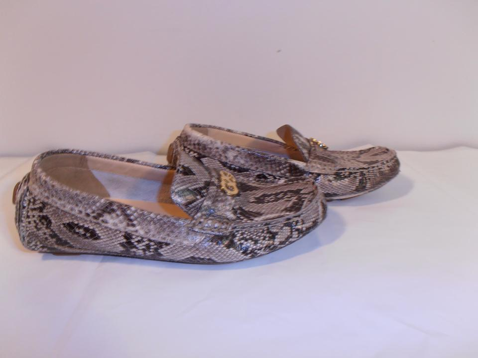 cbfcb802b67 Cole Haan Designer New Moccasin Gray-snake skin patent leather Flats Image  6. 1234567