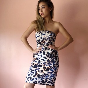 Cameo Collective Leopard Strapless Dress Dress