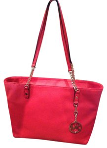 Michael Kors Tote in Mandarin Red