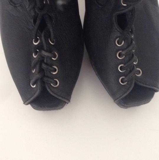Other Custom Custom Heel Witch Witch Lace Up Heel Lace Heel Heels Black leather Platforms
