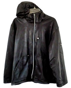 Faux Leather Hooded black Leather Jacket