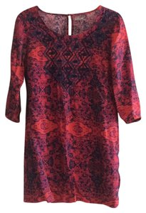 Ecote short dress Red multi on Tradesy
