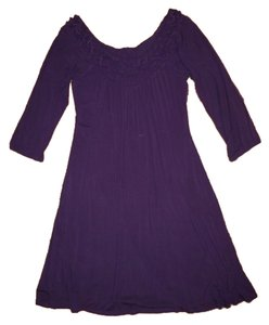 Anthropologie short dress Purple Plum on Tradesy