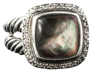 David Yurman David Yurman Grey Mother-of-Pearl and Pave Diamonds Albion Ring