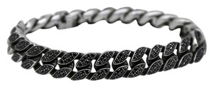 David Yurman David Yurman Pave Curb Chain Bracelet with Black Diamonds and Gold - Medium