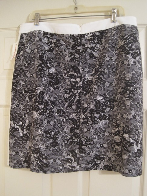 Laundry by Shelli Segal Skirt BLACK AND WHITE
