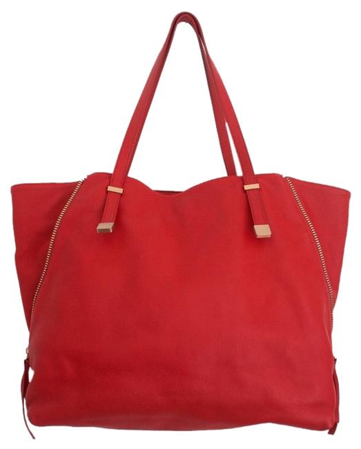 Item - Edie Red Leather Tote