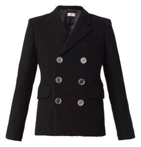 Saint Laurent Black with silver buttons Jacket