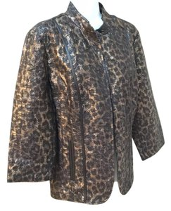 Chico's Animan Chico Animal Animal Print Cat Cat Cat Print Leopard Travel Washable Washable Elegant Formal Party Jungle 2 2 Blazer