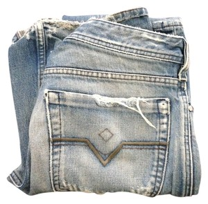 Diesel Distressed Straight Leg Jeans-Distressed