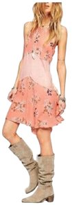 Free People short dress Sherbert COMBO Slip Inset Voile Rayon Sherbert on Tradesy