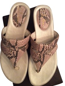 Cole Haan Air Tamara Thong Taupe snake print Sandals
