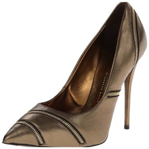 Giuseppe Zanotti Zipper New Sale Metallic Pumps