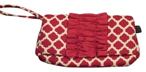 1154 Lill Studio Maroon And Cream Clutch