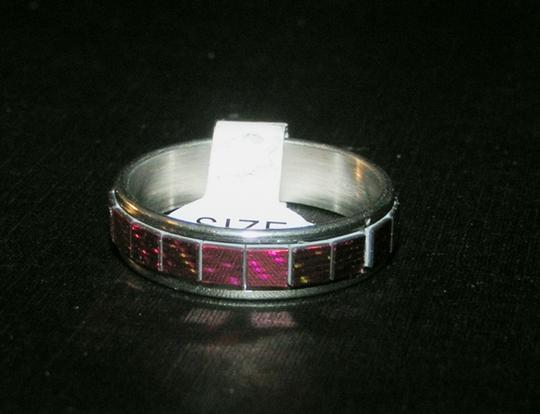 Other BOGO Red Mirror Stainless Steel Eternity Ring Free Shipping