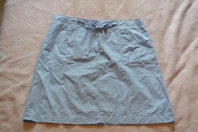 Talbots Mini Skirt Light Blue