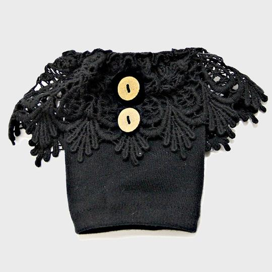 Other Black Lace Boot Topper