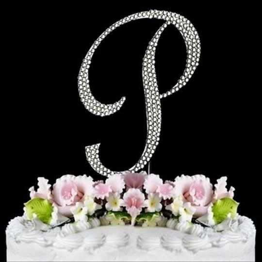 Silver Monogram A-z Cake Toppers