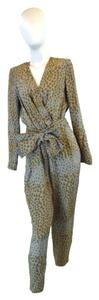 Chloé Animal Print Bow Jumpsuit Dress